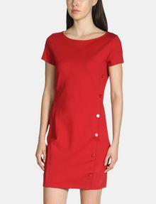 ARMANI EXCHANGE SIDE-BUTTON PONTE BODYCON DRESS Mini dress Woman d