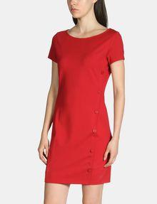 ARMANI EXCHANGE SIDE-BUTTON PONTE BODYCON DRESS Mini dress Woman f