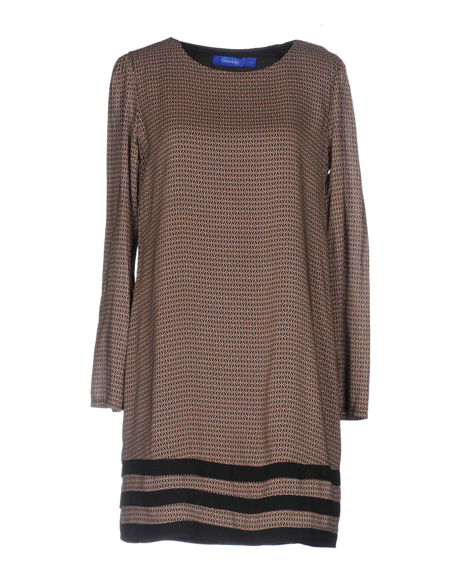 Фото ANONYME DESIGNERS Короткое платье. Купить с доставкой