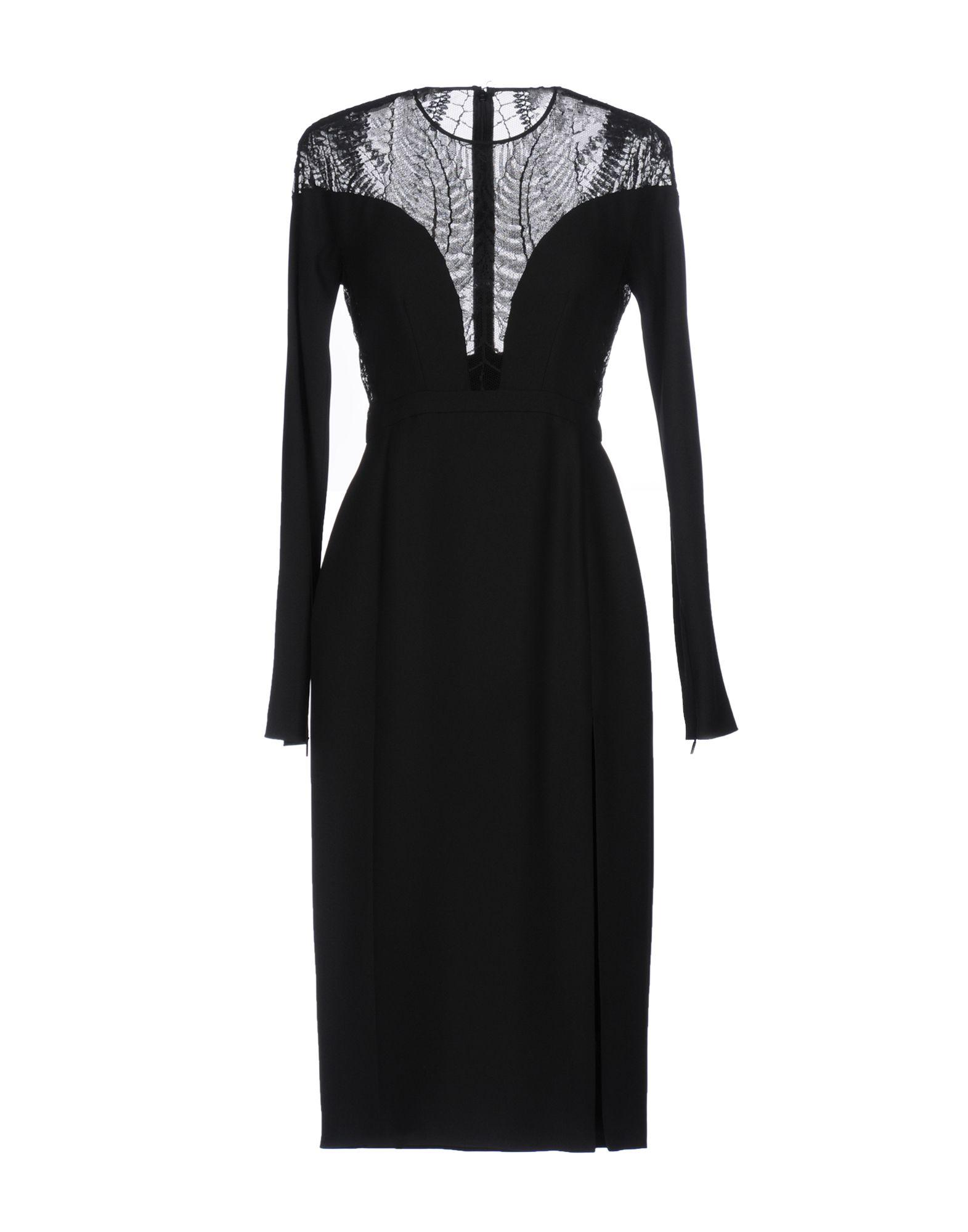 GUCCI Damen Knielanges Kleid Farbe Schwarz Größe 1