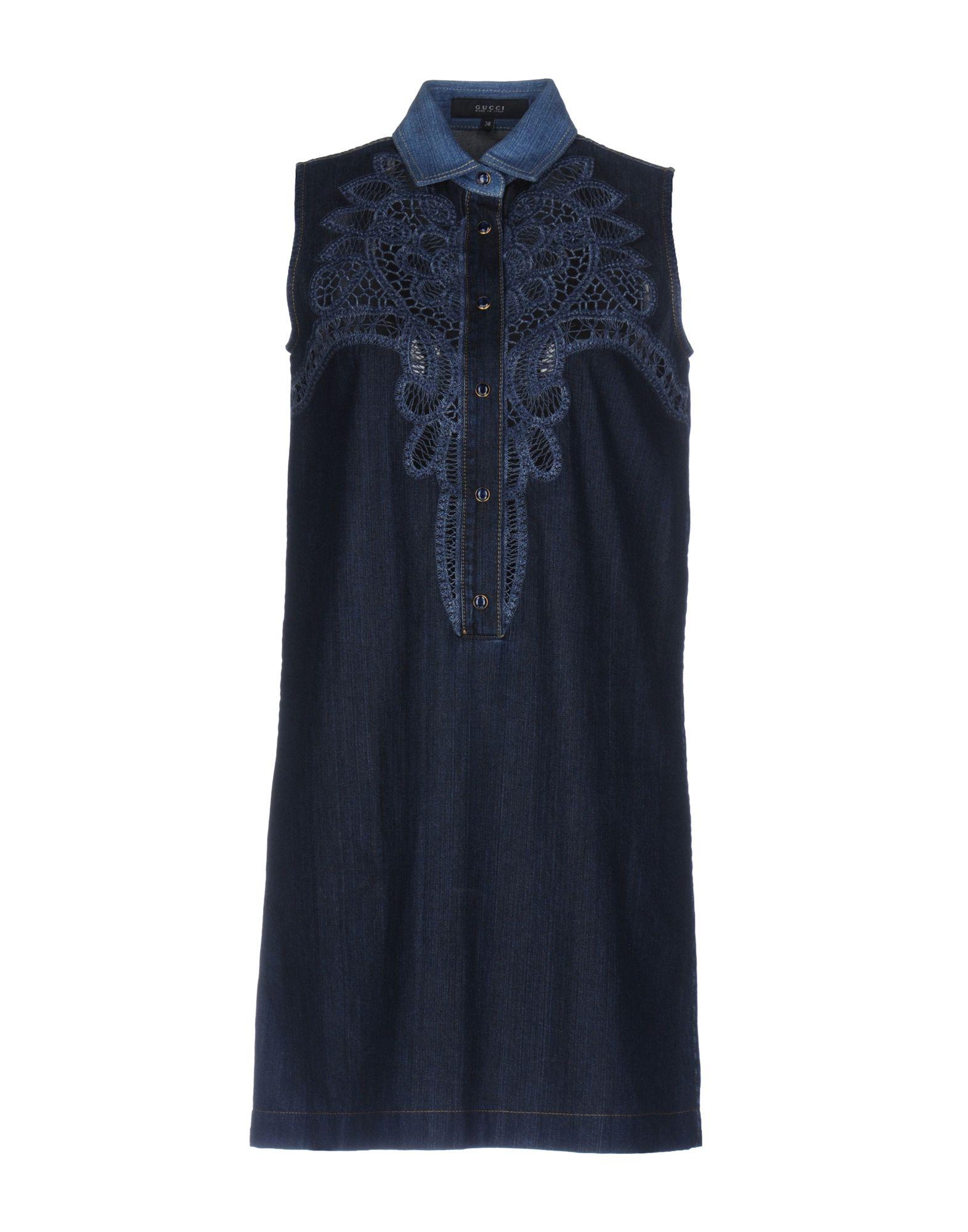 GUCCI Damen Kurzes Kleid Farbe Dunkelblau Größe 2