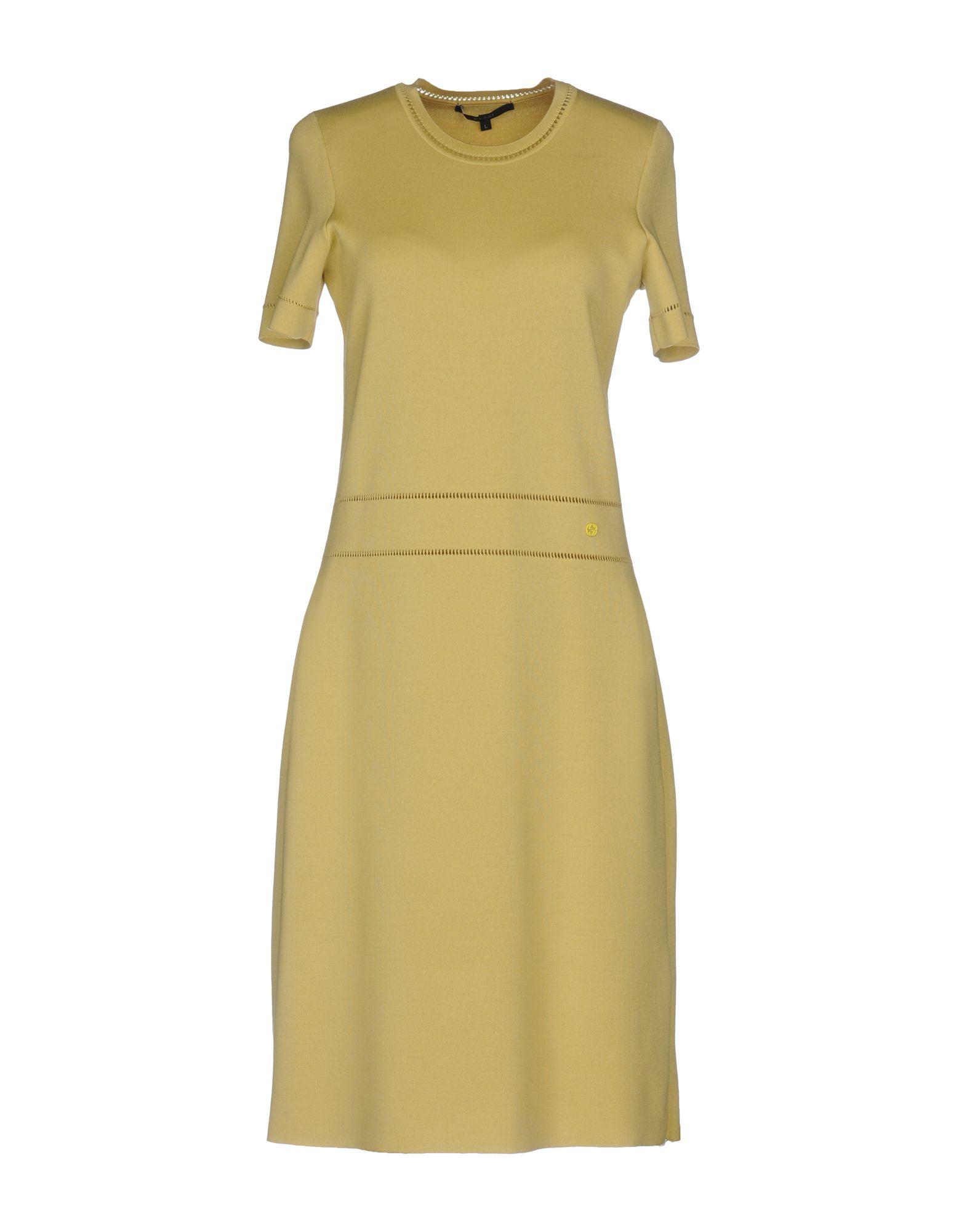 GUCCI Damen Knielanges Kleid Farbe Gelb Größe 6