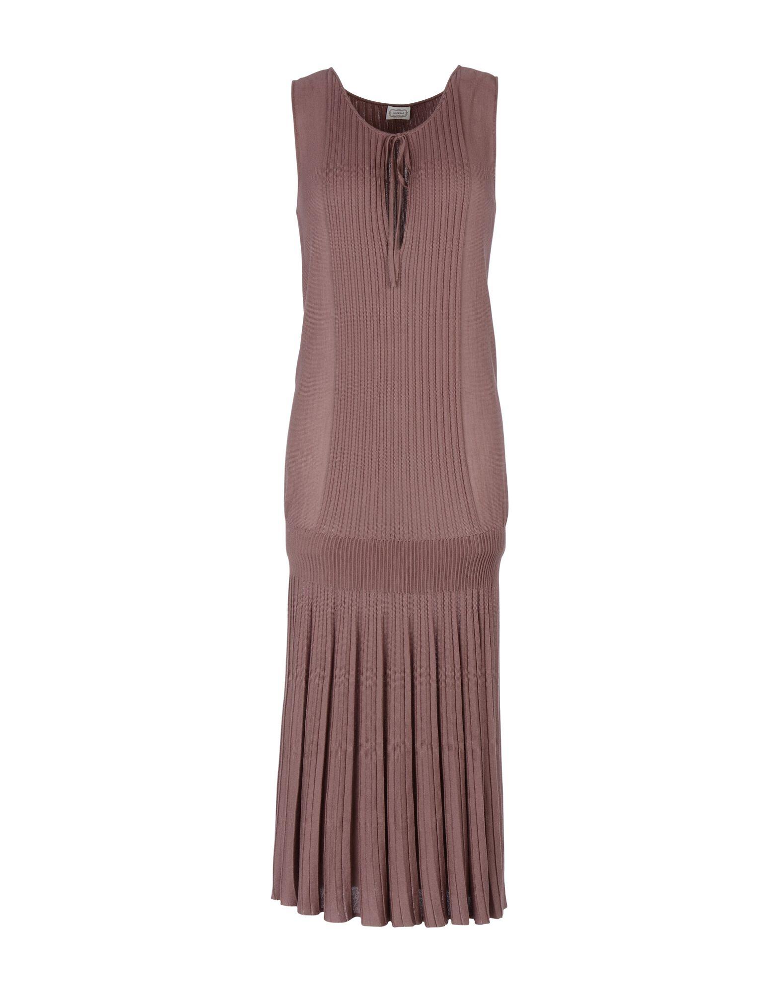 AGNONA Платье длиной 3/4 lisa corti платье длиной 3 4