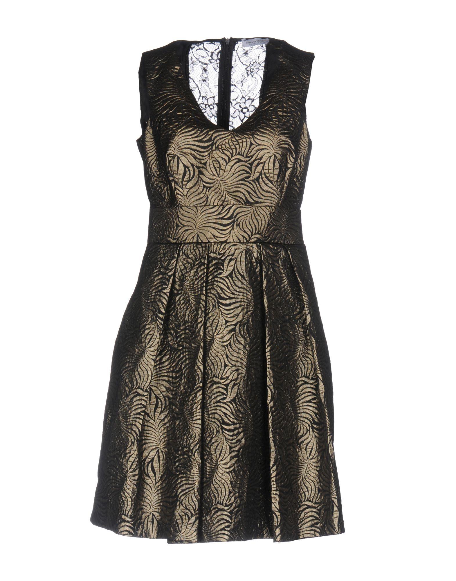 RINASCIMENTO Damen Kurzes Kleid Farbe Gold Größe 6