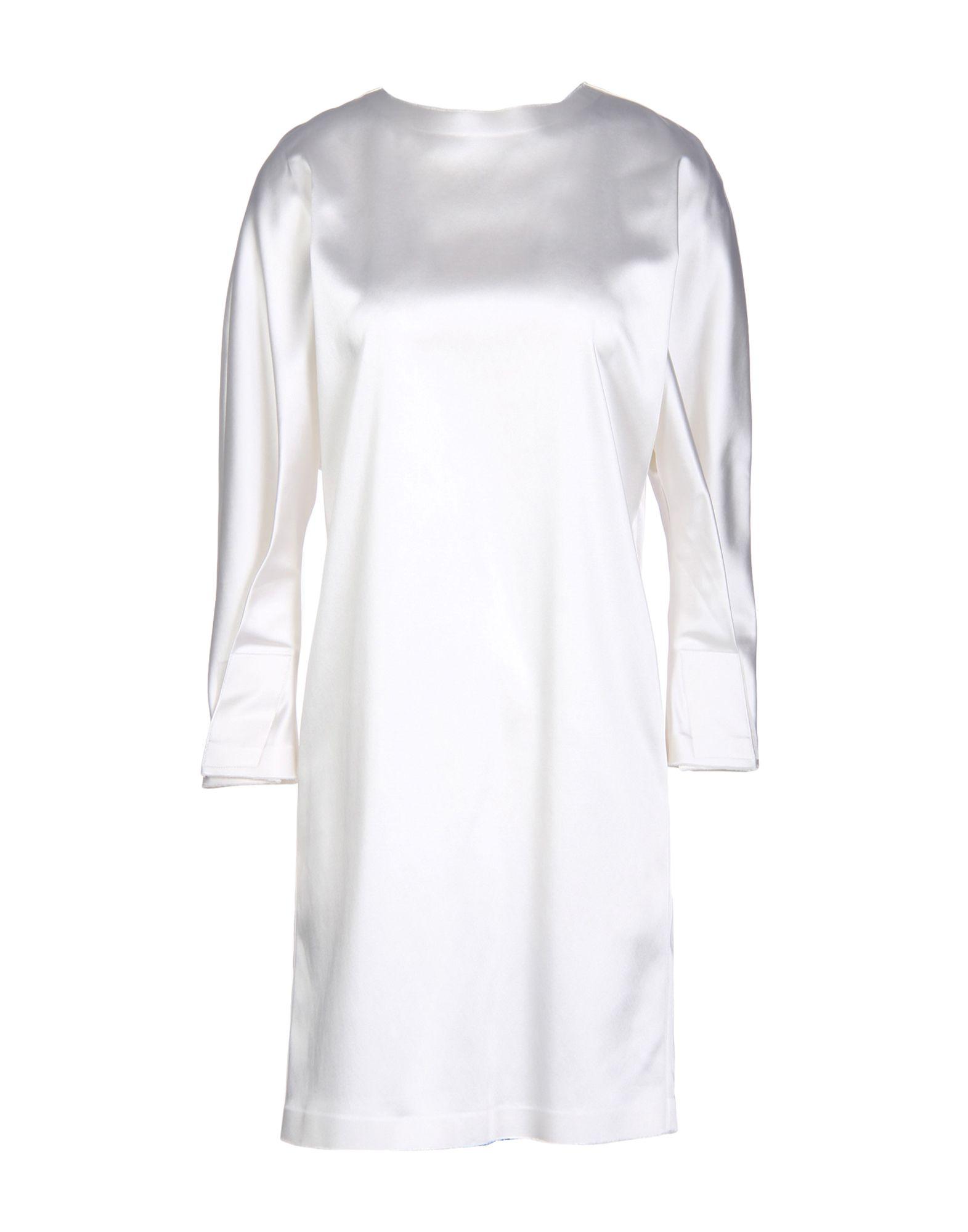 BACK Short Dresses in White