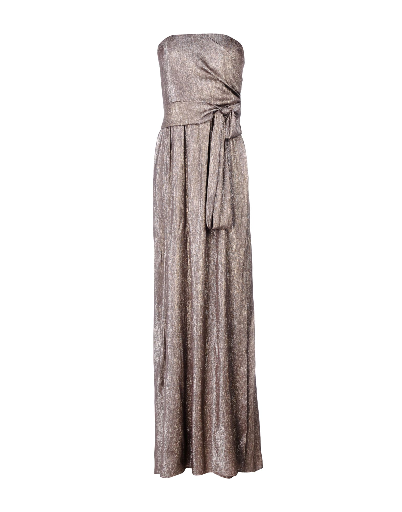 GUCCI Damen Langes Kleid Farbe Taubengrau Größe 4