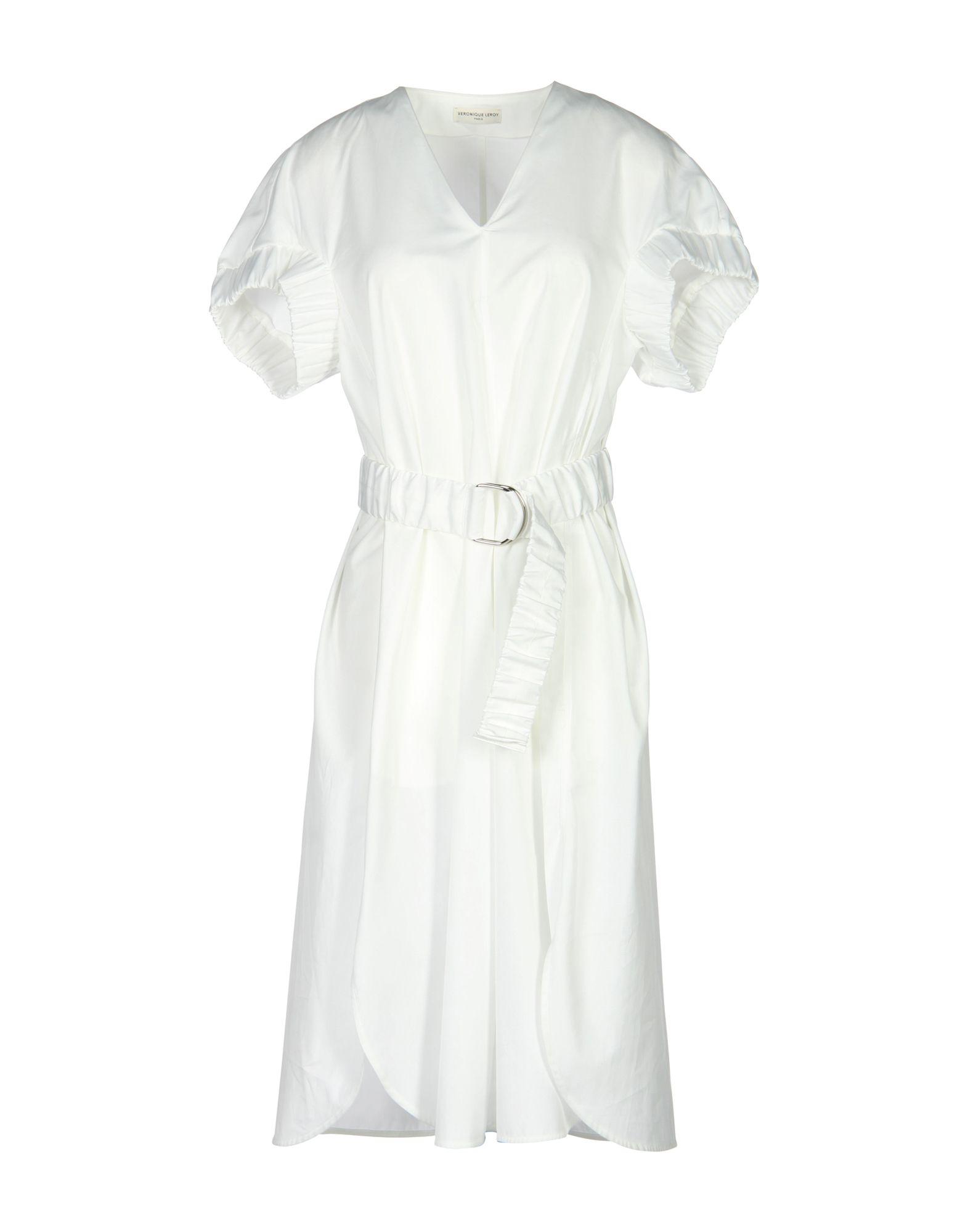 VERONIQUE LEROY Knee-Length Dresses in White