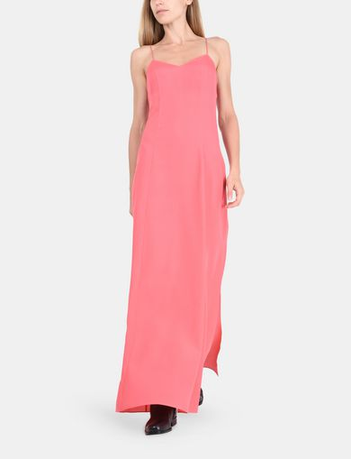V-NECK COLUMN MAXI DRESS