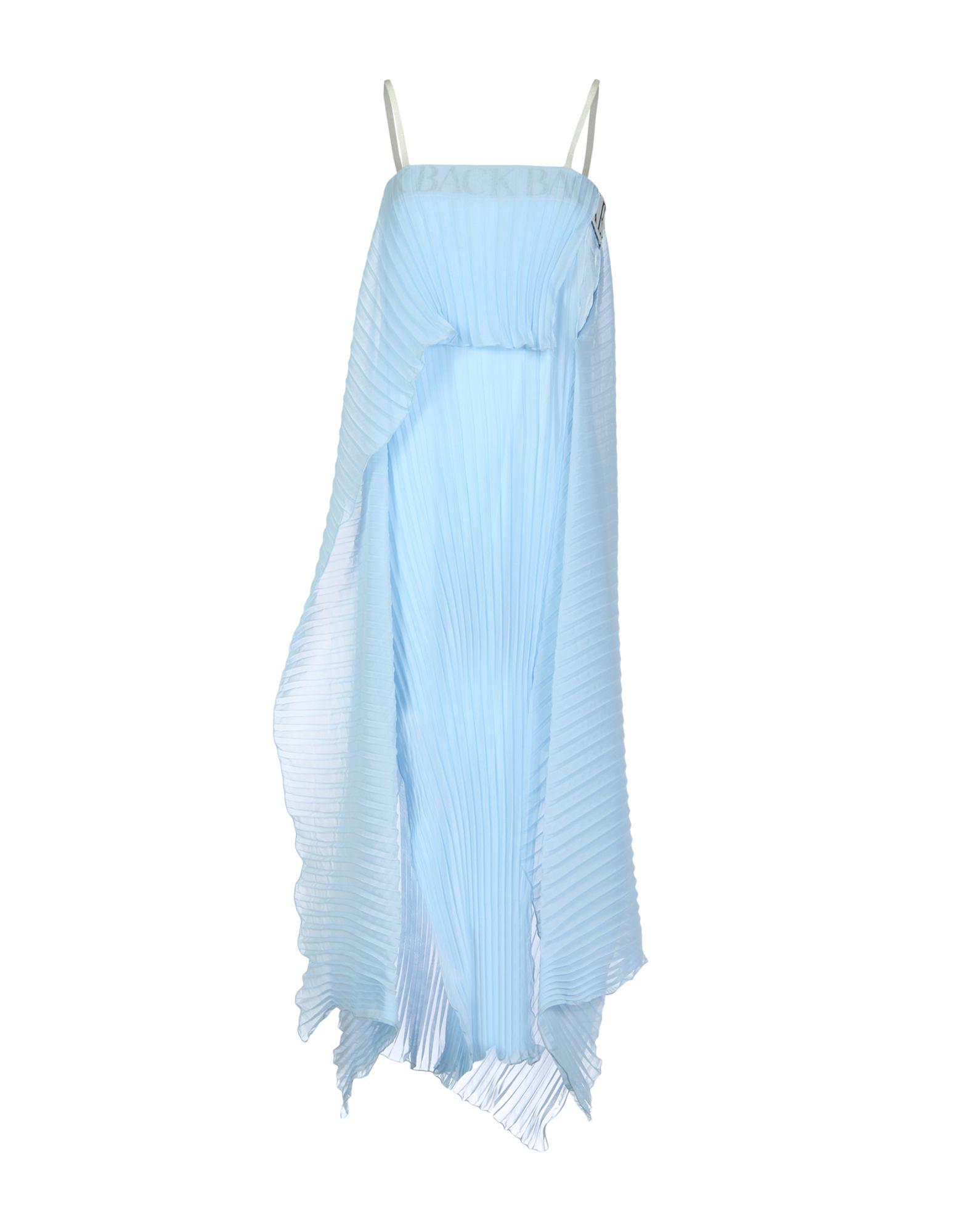 BACK 3/4 Length Dresses in Sky Blue