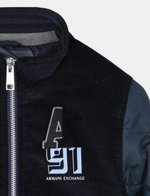 ARMANI EXCHANGE BOYS NYLON VELOUR LOGO BOMBER JACKET Jacket Man d