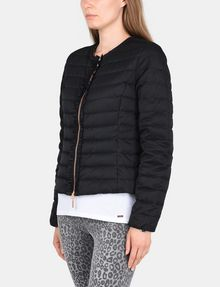 ARMANI EXCHANGE COLLARLESS LEOPARD-LINED PUFFER JACKET PUFFER JACKET Woman d