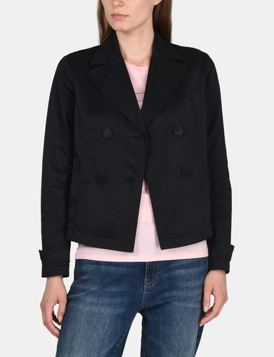 PLEATED DOUBLE-BREASTED JACKET