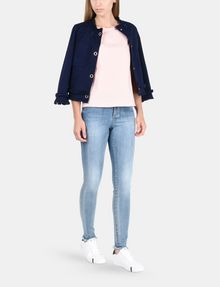 ARMANI EXCHANGE FRAYED EDGE COTTON JACKET Jacket Woman a