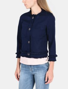 ARMANI EXCHANGE FRAYED EDGE COTTON JACKET Jacket Woman d