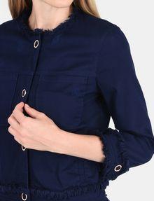 ARMANI EXCHANGE FRAYED EDGE COTTON JACKET Jacket Woman e