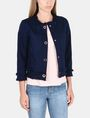 ARMANI EXCHANGE FRAYED EDGE COTTON JACKET Jacket Woman f
