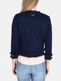 ARMANI EXCHANGE FRAYED EDGE COTTON JACKET Jacket Woman r