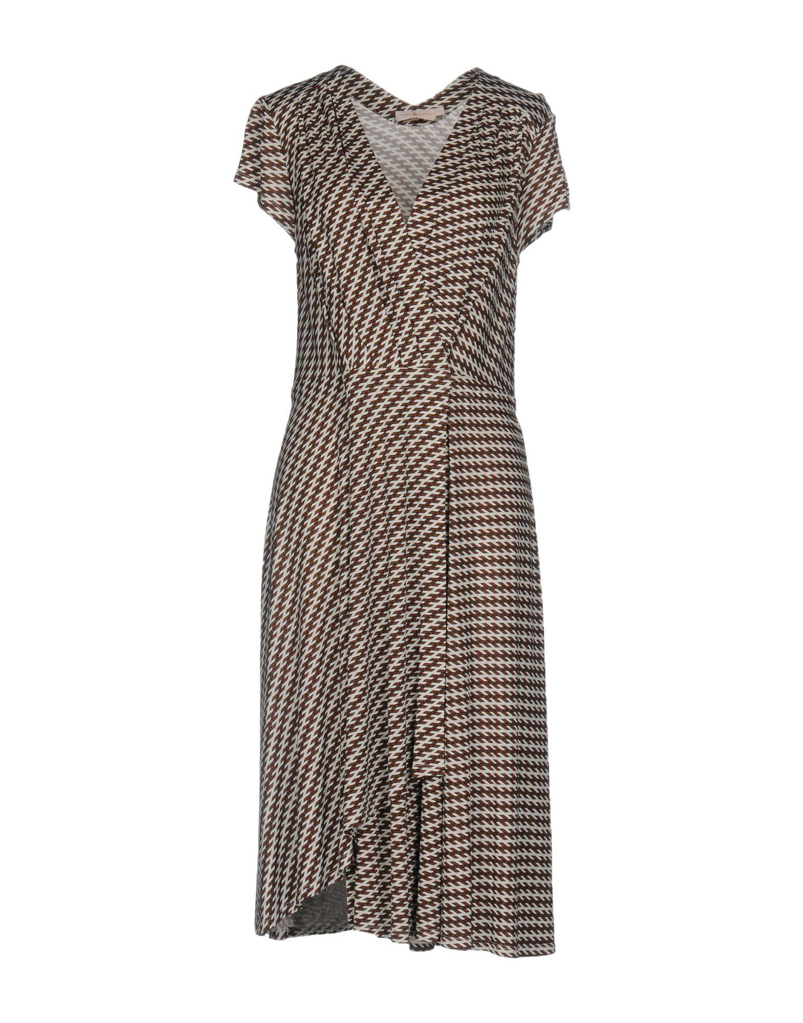 TORY BURCH Платье до колена цены онлайн