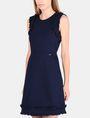 ARMANI EXCHANGE RAW DETAIL RUFFLE OPEN-BACK DRESS Mini dress Woman d