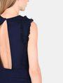 ARMANI EXCHANGE RAW DETAIL RUFFLE OPEN-BACK DRESS Mini dress Woman e