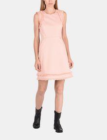 ARMANI EXCHANGE RAW DETAIL RUFFLE OPEN-BACK DRESS Mini dress Woman a