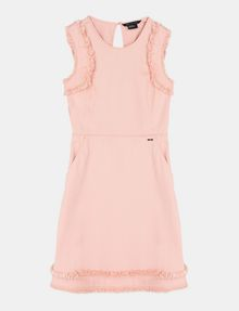 ARMANI EXCHANGE RAW DETAIL RUFFLE OPEN-BACK DRESS Mini dress Woman b