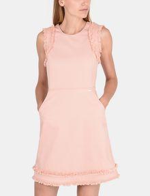 ARMANI EXCHANGE RAW DETAIL RUFFLE OPEN-BACK DRESS Mini dress Woman f