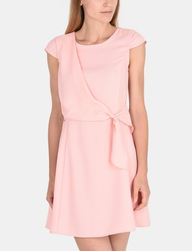 DRAPED TIE-WAIST DRESS