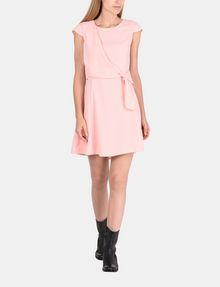 ARMANI EXCHANGE DRAPED TIE-WAIST DRESS Mini dress Woman a