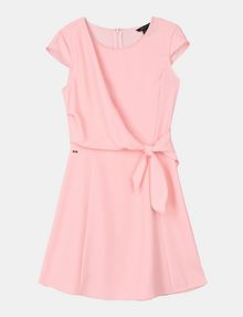 ARMANI EXCHANGE DRAPED TIE-WAIST DRESS Mini dress Woman b