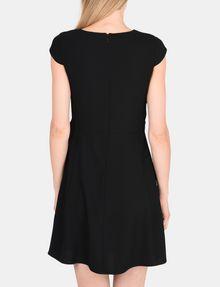 ARMANI EXCHANGE DRAPED TIE-WAIST DRESS Mini dress Woman r
