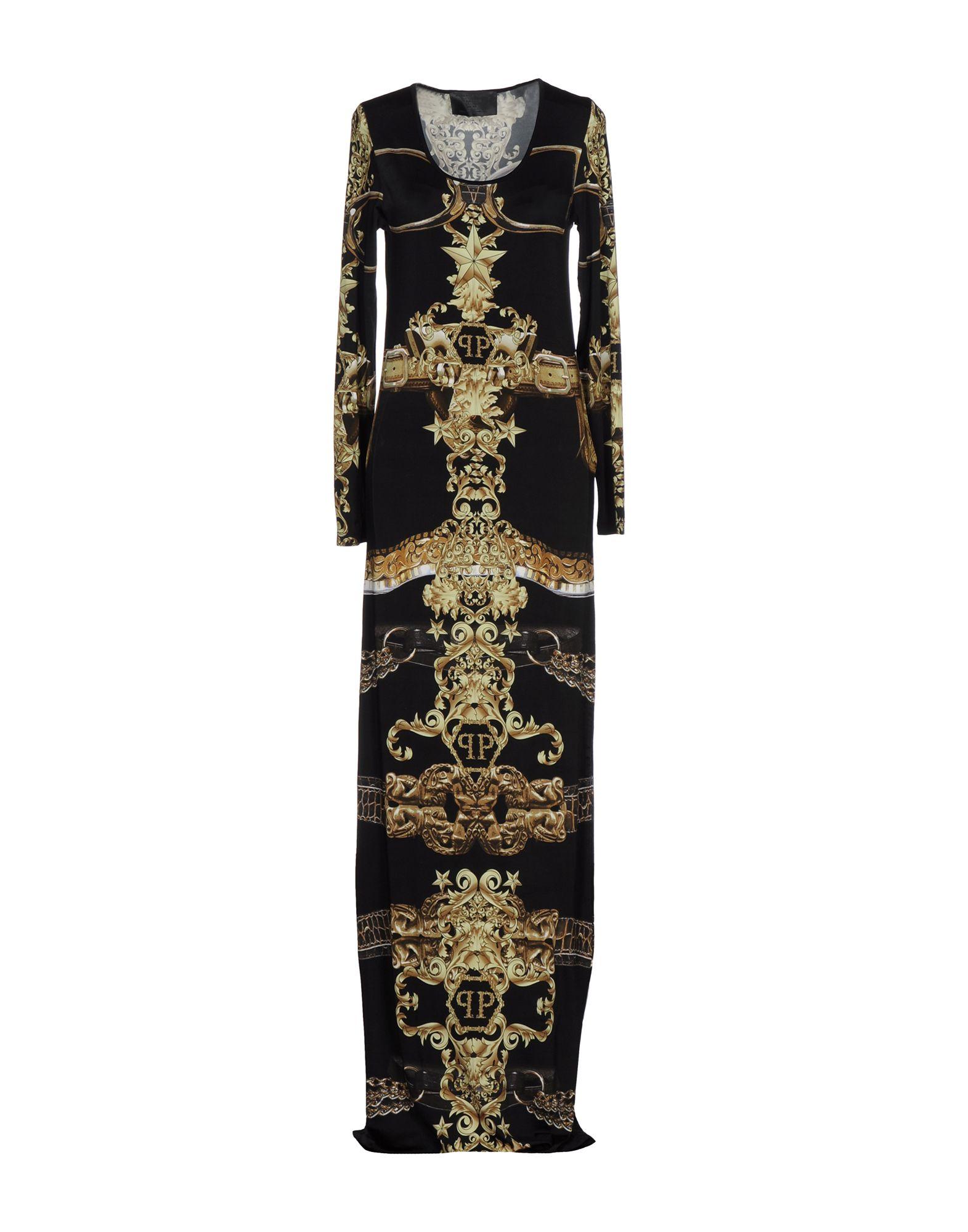 PHILIPP PLEIN Длинное платье цена 2017
