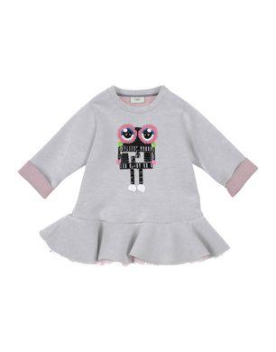 FENDI Mädchen 3-8 jahre Kleid Farbe Hellgrau Größe 6 Sale Angebote