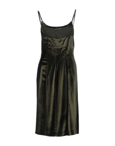 PATRIZIA PEPE Damen Knielanges Kleid Militärgrün Größe 36 100% Viskose
