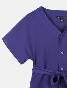 ARMANI EXCHANGE GIRLS TIE-WAIST SWING DRESS Mini dress [*** pickupInStoreShipping_info ***] d