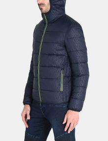 Hooded Tonal Jacket Logo Exchange Puffer Doudoune Armani tw0qCt
