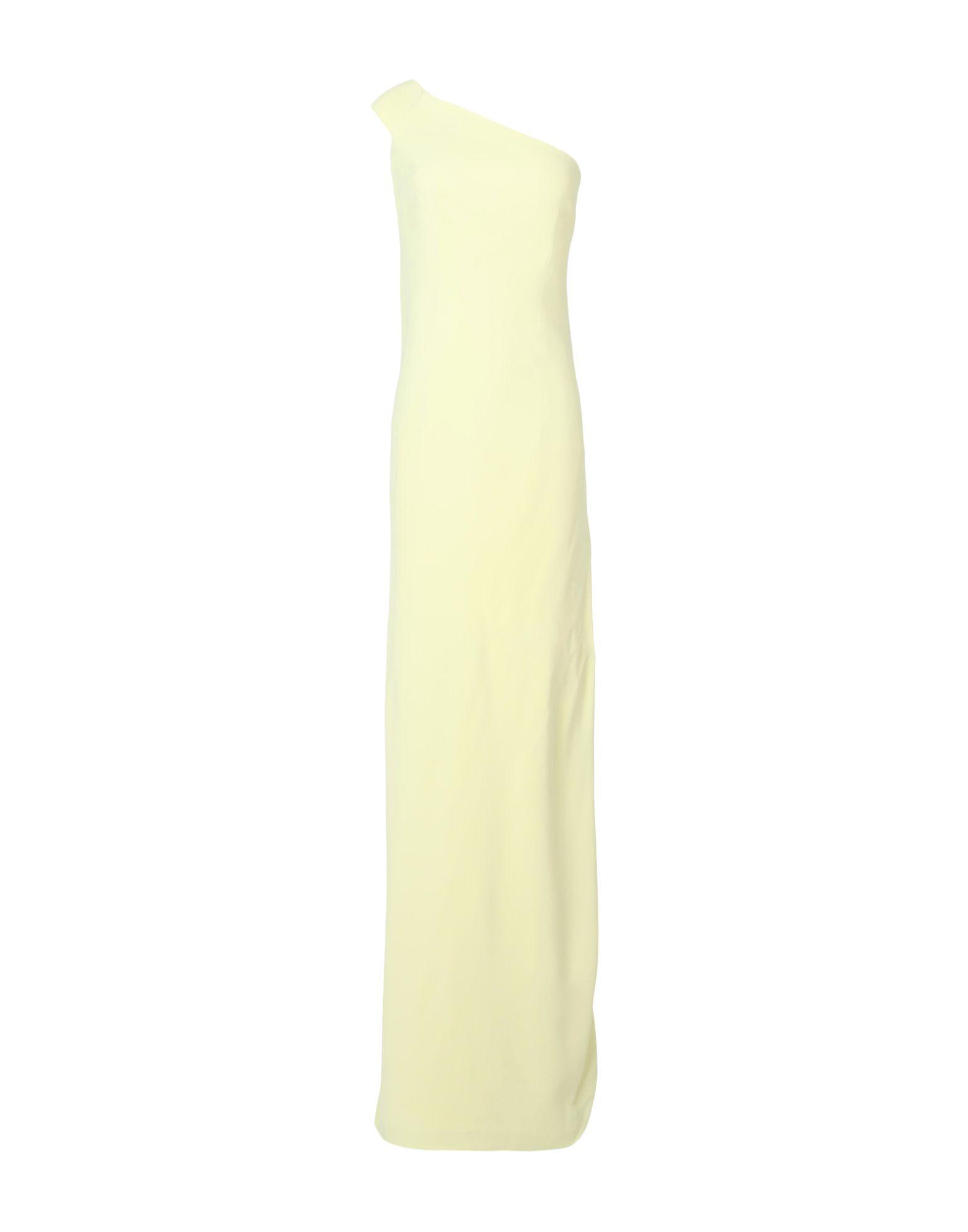 SAFIYAA Damen Langes Kleid Farbe Hellgelb Größe 7