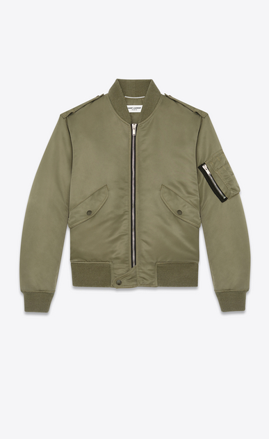 SAINT LAURENT Casual Jacken U klassische bomberjacke in khakibraun a_V4