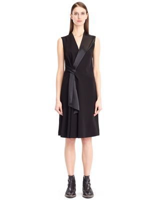 LANVIN FLOWY CREPE DRESS Dress D f