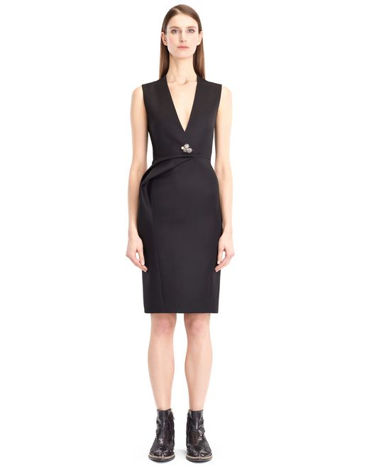 lanvin double-weave wool dress women
