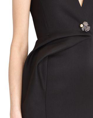 LANVIN DOUBLE-WEAVE WOOL DRESS Dress D a