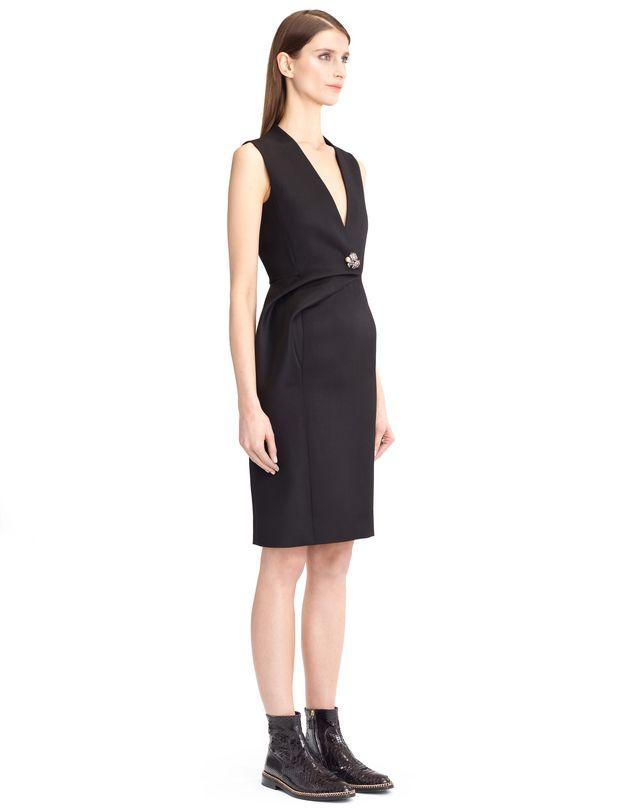 LANVIN DOUBLE-WEAVE WOOL DRESS Dress D e