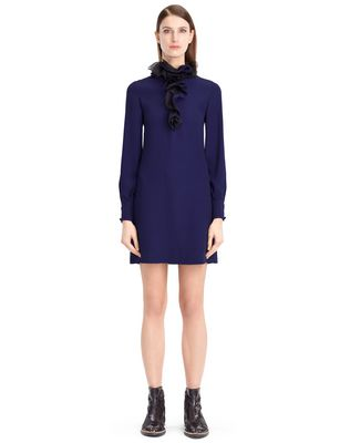 LANVIN FLOWY CREPE DRESS Dress D f