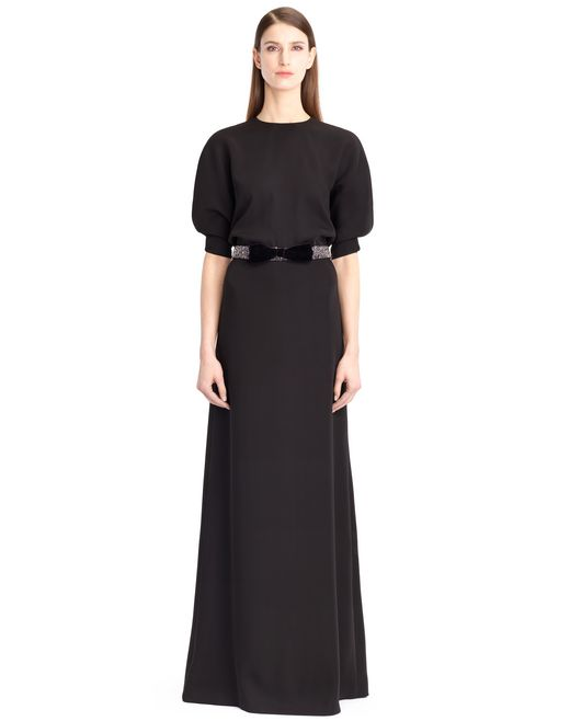 lanvin satin sable dress women