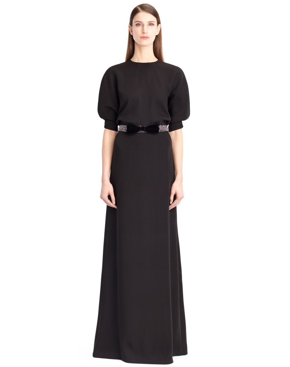 SATIN SABLE DRESS - Lanvin