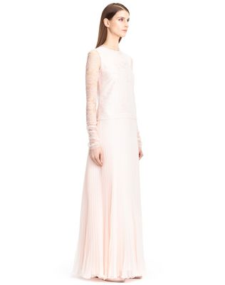 LANVIN SILK CHIFFON DRESS Long dress D e