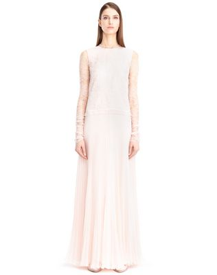 LANVIN SILK CHIFFON DRESS Long dress D f