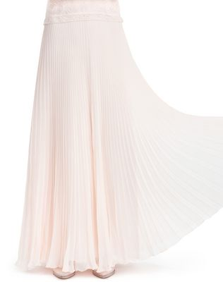 LANVIN SILK CHIFFON DRESS Long dress D r