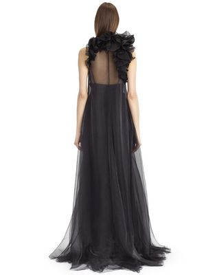 LANVIN SILK CHIFFON DRESS Long dress D d
