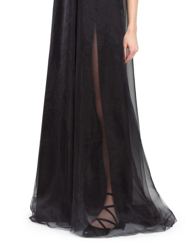 LANVIN SILK CHIFFON DRESS Long dress D b